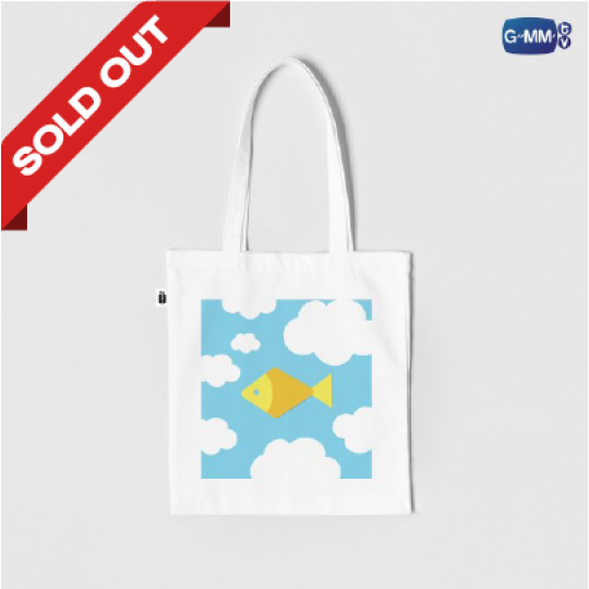 FISH UPON THE SKY TOTE BAG | กระเป๋าผ้าปลาบนฟ้า